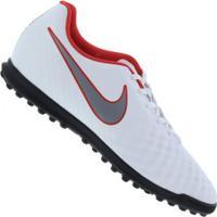 Chuteira Society Nike Magista Obra X 2 Club Tf - Adulto - Branco/Cinza
