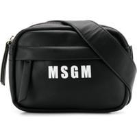 Msgm Kids Bolsa Tiracolo Com Estampa De Logo - Preto