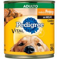 Ração Para Cães Pedigree Adultos Lata Sabor Frango Ao Molho Com 290G