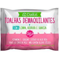 Toalhas Demaquilantes Dailus Tira Tudo 3 Em 1 Com 25 Unidades