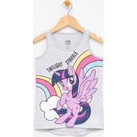 Blusa Regata Infantil Com Estampa My Little Pony - Tam 4 A 12