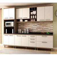 Cozinha Compacta New Vitoria 10 Pt 5 Gv Avelã Com Bianco