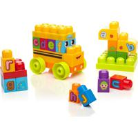 Mega Bloks First Builders Ônibus Escolar Soletrando O Abc Mattel Multicolorido