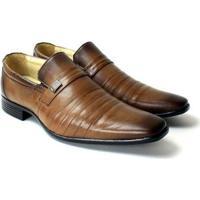 Sapato Social Zanuetto Confort Conhaque Masculino - Masculino-Marrom