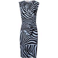 Vestido Le Lis Blanc Leticia Curto Estampado Feminino (Zebra Print, 46)