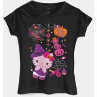 Camiseta Bandup! Hello Kitty Halloween Treats - Feminino-Preto