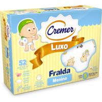 Fraldas De Pano Cremer Caixa Com 05 Fraldas Luxo Para Meninos Branco