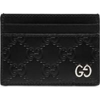 Gucci Porta-Cartões Gg Signature - Preto