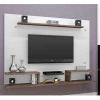 Painel Para Tv 65 Polegadas Itaparica Branco E Chocolate 182 Cm