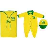 a6de530e42 Netshoes  Saída De Maternidade Infantil Torcida Baby Brasil Masculino -  Masculino