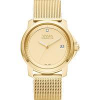 Relógio Vivara Feminino Aço Dourado - Ds13064R0E-1