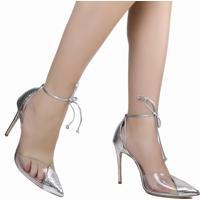 Sapato Amarração Schutz Vinil Snake Metalizado