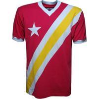 Camisa Liga Retrô Congo 1968 Masculina - Masculino-Vermelho