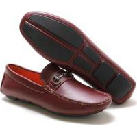 Mocassim Navit Shoes Driver Abridon Masculino - Masculino-Vermelho