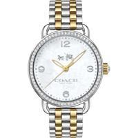 Relógio Coach Feminino Aço Prateado E Dourado - 14502484