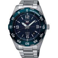 Relógio Seiko Masculino Srpb85B1 D2Sx Automático Pulseira E Caixa Aço Prateado Mostrador Azul