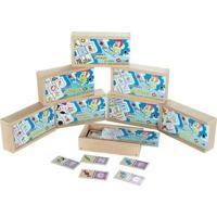 Brinquedo Educativo Domino Kit Alfabetizacao 8 Jogos Carlu Brinquedos