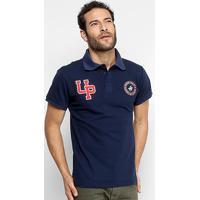 ... Camisa Polo Polo Up Bordado Masculina - Masculino-Marinho 295b52442e8d3