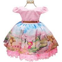 Vestido Luxo Infantil Masha E Urso