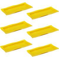 Saladeira Vemplast Moove Rasa Amarelo - Amarelo - Dafiti