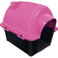 Casinha Plástica Para Pets Iglu 52X48Cm Rosa