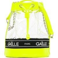 Gaelle Paris Kids Mochila Transparente Com Logo - Amarelo