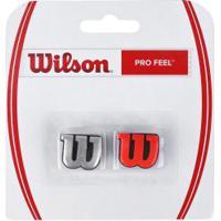 Antivibrador Wilson Pro Feel - Prata/Vermelho