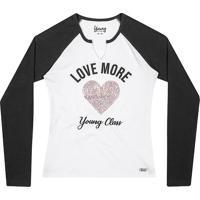 """Blusa """"Love More""""- Branca & Preta- Teen- Youngyoung"""