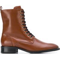 Hogl Ankle Boot Com Cadarço - Marrom