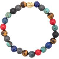 Nialaya Jewelry Pulseira Com Olho De Tigre E Turquesa - Estampado