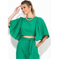 Blusa Cropped Verde
