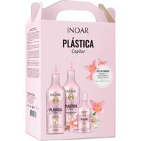 Kit Inoar Plástica Capilar 1 Shampoo 1L + 1 Tratamento 1L + 1 Leave-In 250Ml - Unissex-Incolor