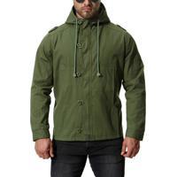 Jaqueta Masculina Capuz - Verde Exército