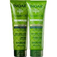 Kit Inoar Argan Oil Thermoliss Reduz Frizz Shampoo Cond.