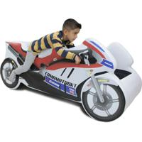 Mini Cama Carro Moto Ninja Branco