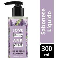 Sabonete Relaxing Rain Mãos E Corpo Óleo De Argan & Lavanda Love Beauty And Planet 300Ml - Feminino-Incolor