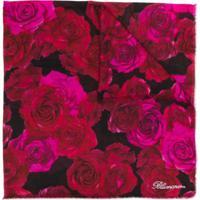Blumarine Echarpe Com Estampa De Rosas