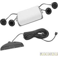 Sensor De Estacionamento - Importado - Com Display E Campainha - 4 Sensores - Preto - Traseiro - Cada (Unidade)