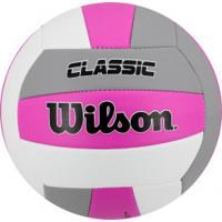 Bola De Vôlei Wilson Classic - Rosa Esc/Cinza
