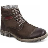 Bota Couro Sandro & Co. Dress Boot Masculino - Masculino-Café