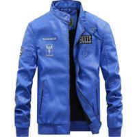 Jaqueta Motoqueiro Bulls - Azul Royal