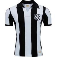 Camisa Do Figueirense 1960 Retrômania - Masculina - Preto/Branco