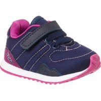 Tênis Bebê Klin Mini Walk Nylon - Feminino-Azul