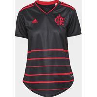 Camisa Flamengo Iii 20/21 S/N° Torcedor Adidas Feminina - Feminino-Preto+Vermelho