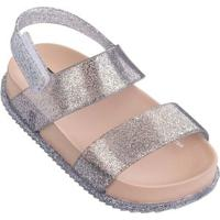 Sandália Mini Melissa Cosmic Sandal - Feminino-Prata