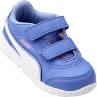 Tênis Infantil Puma Stepfleex Fs Sl V Bdp - Masculino-Azul+Branco