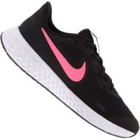 Tênis Nike Revolution 5 Gs Feminino - Infantil - Preto/Rosa