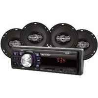 Multilaser Kit Som Automotivo Mp3 One Quadriaxial, Quatro Alto Falantes, Tela Led, Entrada Sd Au953, Preto