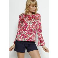 Blusa Floral - Pink & Rosa- Moisellemoiselle