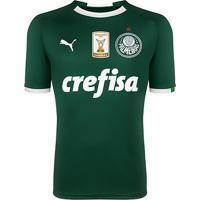 Camisa Palmeiras I 19/20 S/N° - Torcedor Puma Patch Campeão Brasileiro Masculina - Masculino